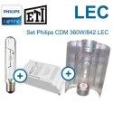 Kit LEC 360 W con balastro ETI CL1 y Cooltube