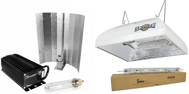 Iluminacion LEC para cultivo interior luminarias y equipos