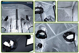 Armario Dark Box Puertos de entrada y salida y accesorios
